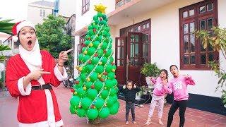 Cách Làm Cây Thông Noel Bóng bay Khổng lồ ❤ DIY Giant Christmas tree balloons - Trang Vlog