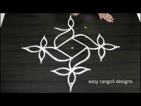 7 Dots Beautiful Kolam  || Easy N Creative  Rangoli Designs || Simple  Muggulu  || New Patterns
