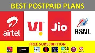 Best Postpaid Plan 2021 | Jio | Airtel | Vodafone | Jio Postpaid Netflix | Airtel Postpaid
