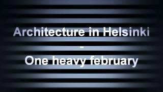 architecture in helsinki fingers crossed