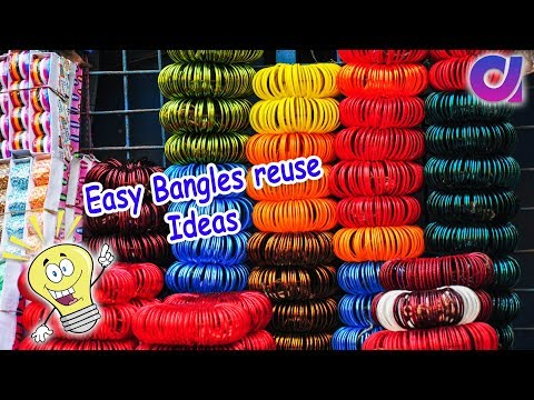 12 Easy old bangles reuse ideas | waste bangles craft ideas | Best out of waste | Artkala 324