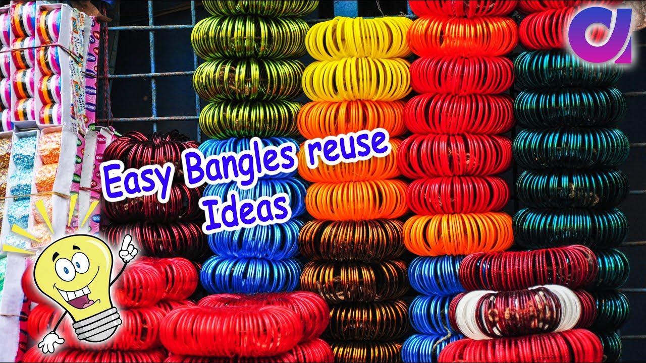 12 Easy old bangles reuse ideas | waste bangles craft ideas | Best ...