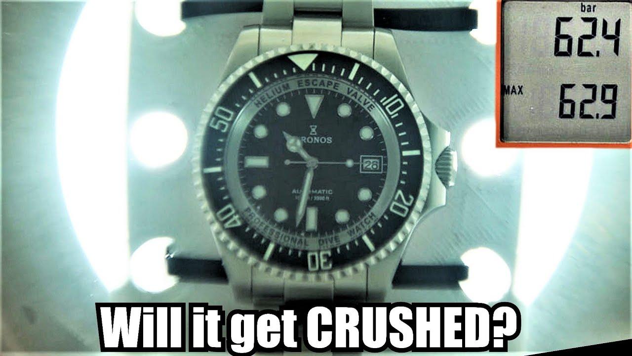 1000m/3300ft  Dive Watch Vs. Deep Sea Chamber | Max depth 3000 meters!