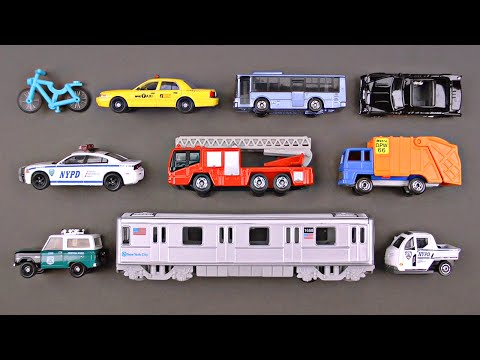 Learning New York City Street Vehicles for Kids - NYC Cars and Trucks by Hot Wheels Matchbox Lego