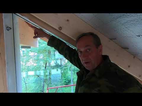 Фахверковый дом, доработка штробы для герметизации панорамных окон в