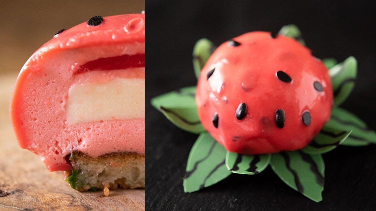 世にも奇妙なスイカの花 Watermelon mousse cake