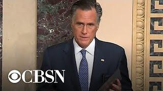 Republican Senator Mitt Romney announces he will vote to convict Trump