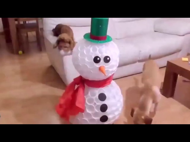 Snowman with plastic cups!