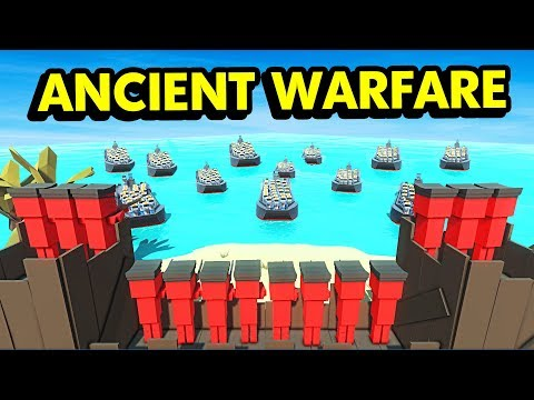 ISLAND D-DAY ATTACK WITH FUTURE UNITS IN ANCIENT WARFARE 3 (Ancient Warfare 3 Funny Gameplay)