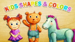 Kids Shapes & Colors Preschool - Baby Learn Colors and Shapes Educational Puzzles Games