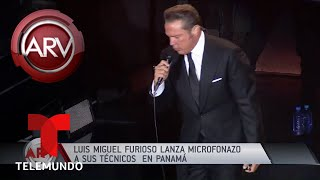 Luis Miguel perdió el control durante su show en Panamá | Al Rojo Vivo | Telemundo
