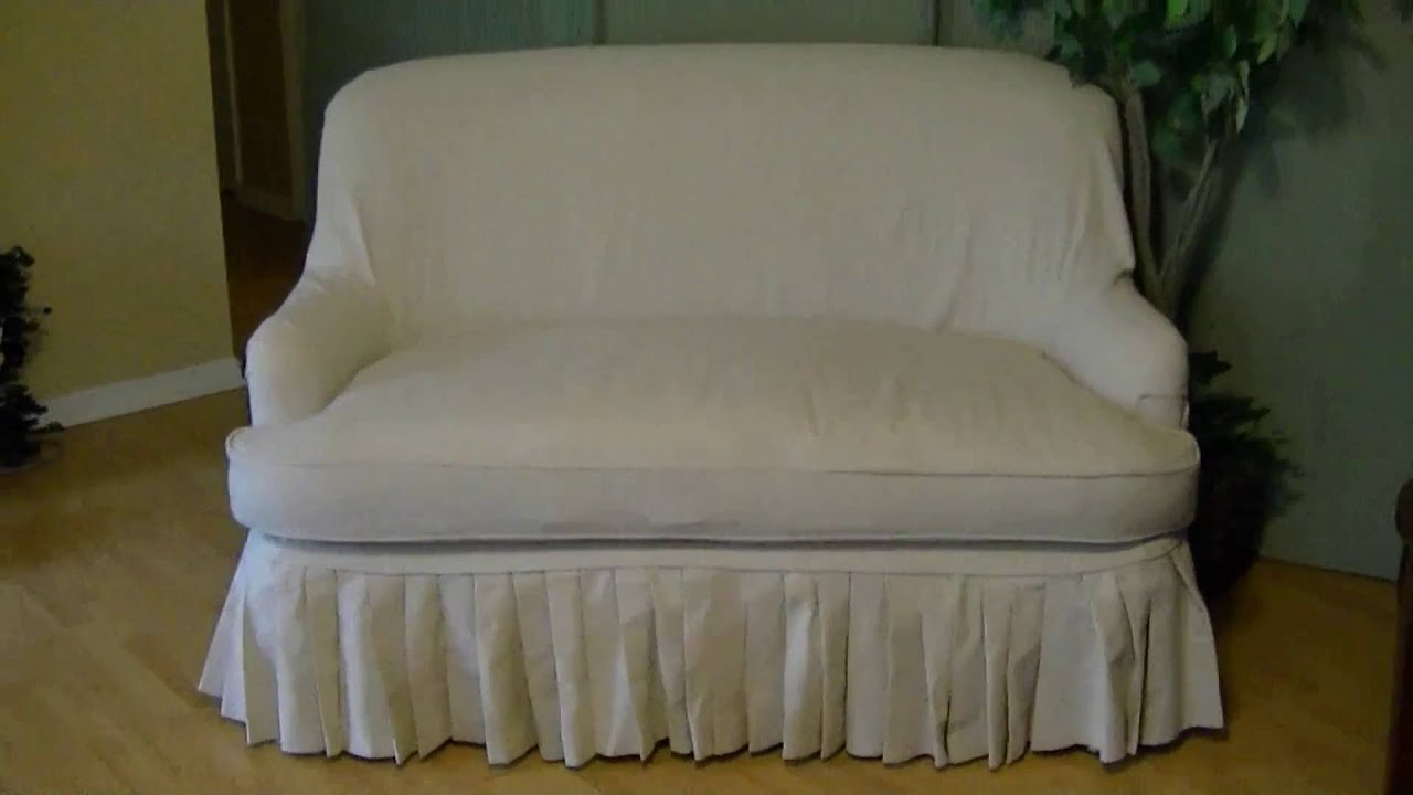 Diy Sofa Slip Cover Easy Tutorial Pt 2 Final Youtube