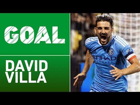 GOAL: David Villa finishes off Andrea Pirlo's brilliant pass