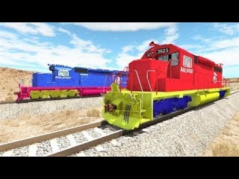 Мультики про машинки - игровое видео для детей с поездами и машинками - Гонки!