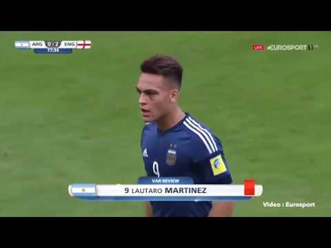 Argentina vs England Video assistant referees decide he elbowed opponent at Under 20s World Cup