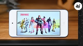 Fortnite at 30FPS on the iPod touch 7th Gen (2019)!