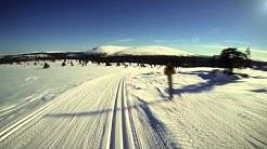 ⚠️Dangerous cross-country skiing⚠️-Finnish Lapland Ylläs Kukastunturi 2014