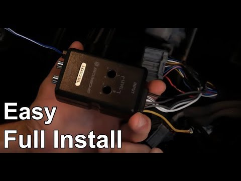 How To Install a Line Output Converter (LOC) To Any Car (Simple