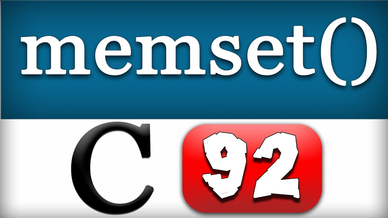 C Programming 96 - memset Function