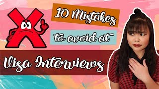 Top 10 Mistakes to Avoid at Visa Interview | Tag'lish Edition