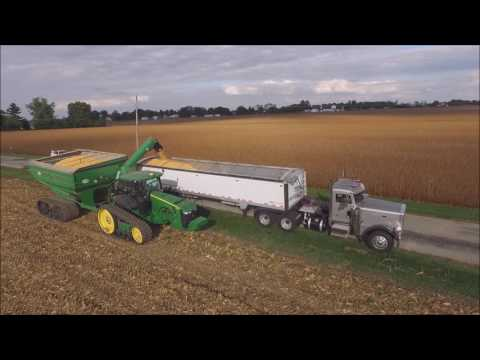 DRONE VIDEO SHELLING CORN KLEIN FAMILY FARMS LIBERTY, INDIANA OCT 3, 2016