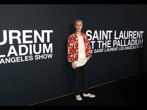 Justin Bieber Saint Laurent event in Los Angeles.2016 ♛