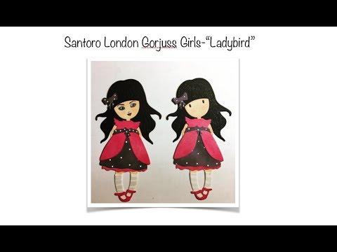 "Demo a Die Cut: Gorjuss Girl ""LADYBIRD"" by Santoro London"
