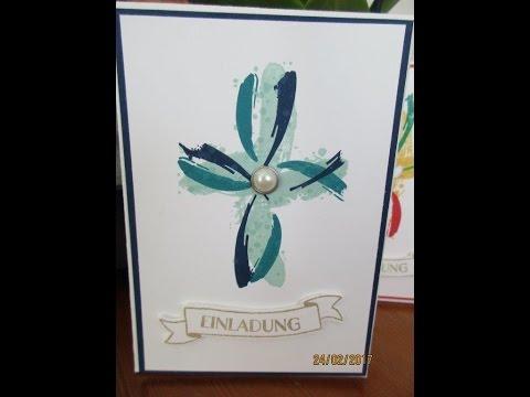 Einladung zur Kommunion/Konfirmation/Taufe - Motiv: Kreuz - gestaltet mit Produkten von stampin up