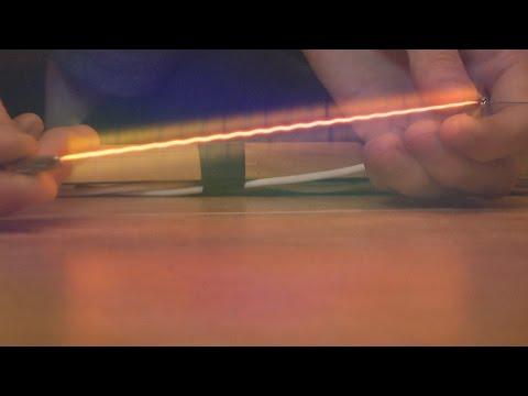 Навивка нихромовой проволки в спираль