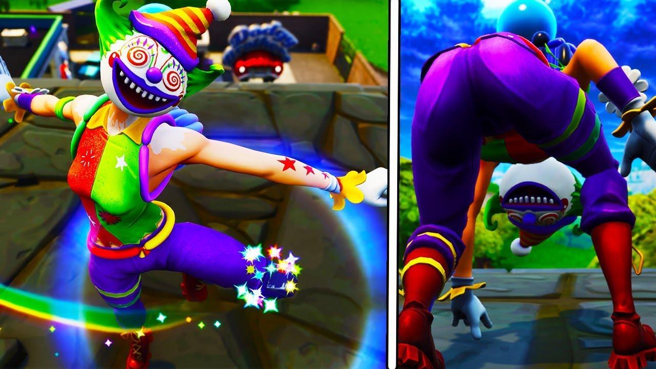fortnite ass showcase new crazy clown peekaboo is actually thicc asf - fortnite football skin thicc