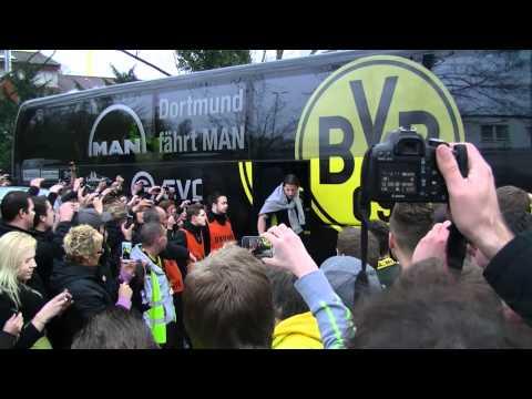 GE vs BVB 1:2: Der Derbysieger kommt nach Hause! (Borussia Dortmund Revierderby 2012)