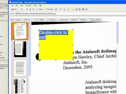 Build a Web Document Viewer App with DotImage - Part IV