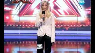 "X Factor Bulgaria - Mari - Girl falls off stage singing ""You give love a bad name"""