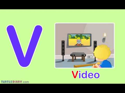 Toddler Words Words Starting With V Youtube
