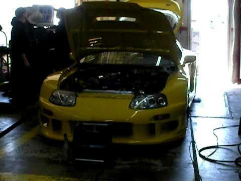 10ab017010c0 Colletti Motorsports MK4 Yellow Supra Dyno 3 - YouTube