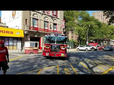 "FDNY Engine 60 ""Green Berets"" Responding From Quarters In Mott Haven, Bronx"