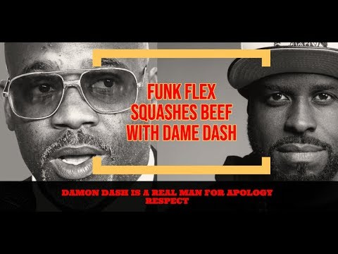 Funk Flex REACTS Dame Dash Apology Squashes Beef 'He is a REAL man for Apology thats DAME I Know'