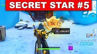 SECRET BATTLE STAR WEEK 5 SEASON 7 LOCATION! - Fortnite Battle Royale (Snowfall Challenges)