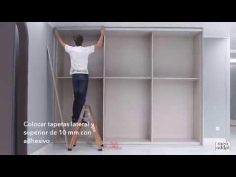 Casa adapt montaje armario puertas correderas 3 guias for Armarios roperos puertas correderas
