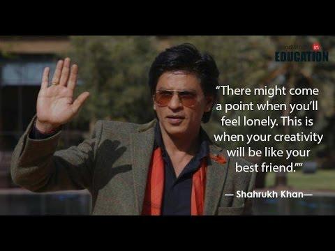 Most Inspiring speech by Dr Shah Rukh Khan