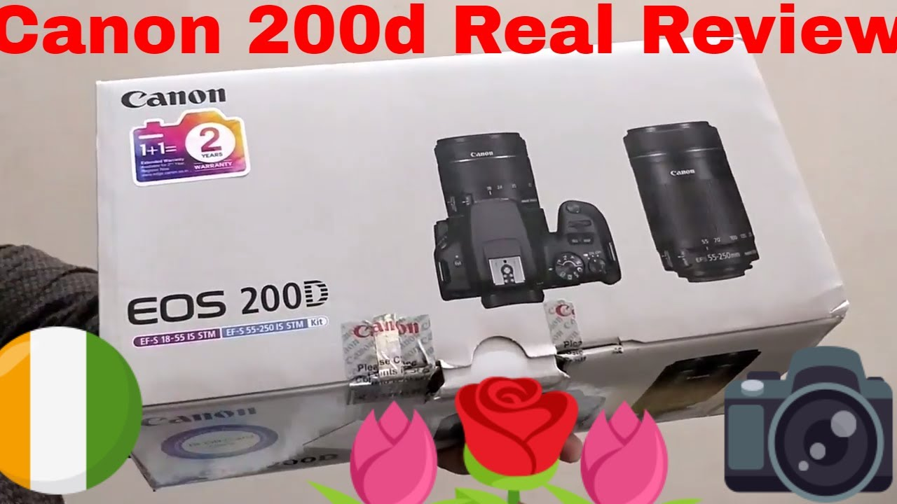 Unboxing Canon 200d Dslr Rebel SL2 Lightest weight Dsrl Real Review Hindi  Price In India