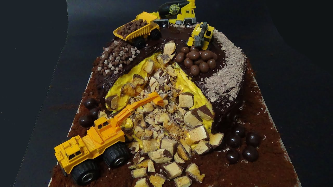 Construction Site Cake Youtube