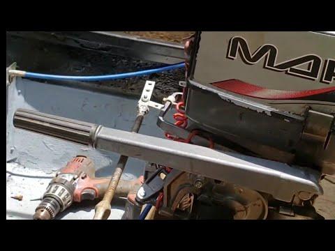 DIY Jon boat steering, stick steer using old foot control trolling motor!