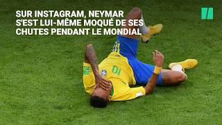 Neymar se moque de ses chutes pendant la Coupe du monde (et annonce qu'il reste au PSG)