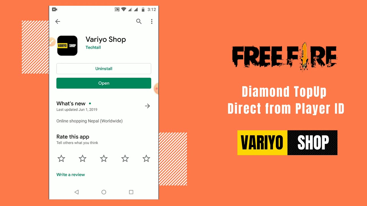 video Free Fire Diamond Top Up Direct from Player ID