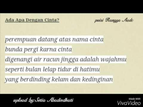 Puisi CINTA 👉Nicolas saputra( rangga AADC)