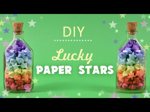 Lucky Paper Stars   How to Make Lucky Paper Stars   Origami Lucky Stars Tutorial