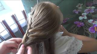 Прическа с плетением