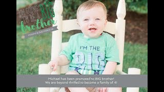 Michael's Promoted to BIG Brother! • Personal