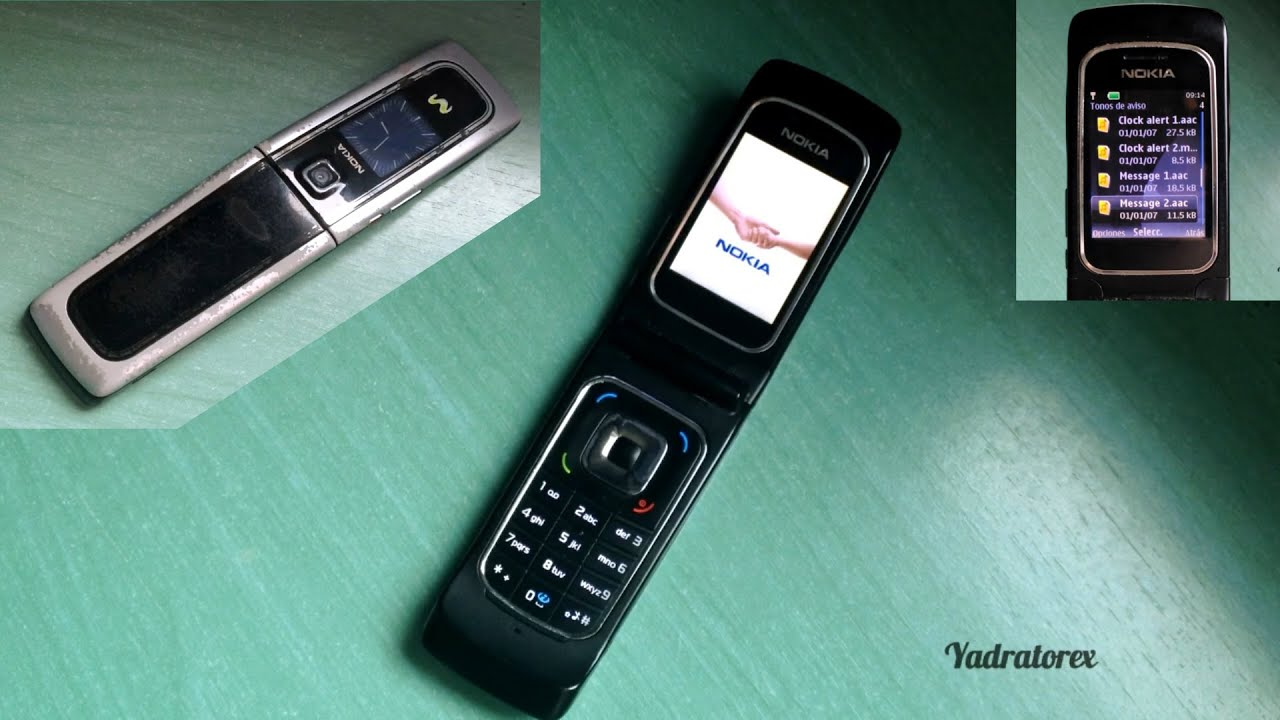 Nokia 6555 retro review (old ringtones, themes, games and more .